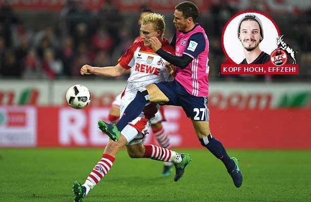 Die Abwehr des 1. FC Köln, hier Frederik Sörensen (l.) im Duell mit Hamburgs Nicolai Müller, muss zurück zu alter Stärke finden. (Foto: getty images)