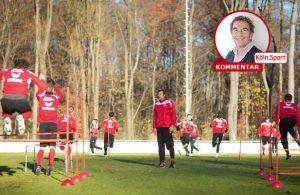 FC-Nachwuchskicker beim Training im Kölner Grüngürtel.