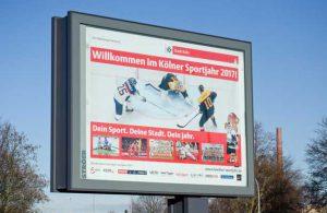 Werbebanner mit Köln.Sport Special