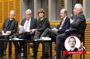 """Bei der Podiumsdiskussion äußerte sich Henriette Reker nicht zum Thema """"Sport""""."""