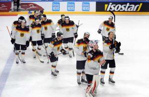 Die deutsche Eishockey Nationalmannschaft bedankte sich bei ihrem Kölner Publikum.