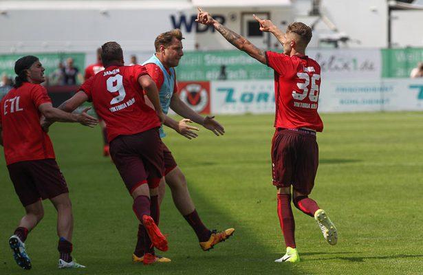 Dominik Lanius traf gegen Jena kurz vor Schluss zum 2:3.