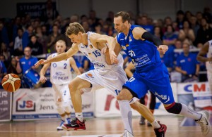Basketball ProA: Science City Jena mit Guido Grünheid (r.)
