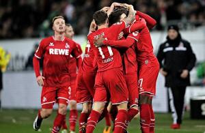 Anthony Modeste 1. FC Köln Torjubel Wolfsburg