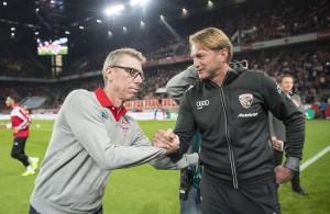FC-Trainer Peter Stöger zollt FCI-Trainer Ralph Hasenhüttl Respekt