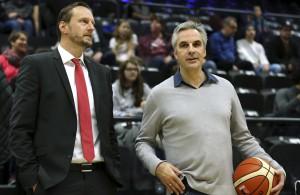 Rheinstars Kölns Manager Stephan Baeck und Trainer Arne Woltmann