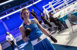 Maren Apetz bei der Box-WM im kasachischen Astana