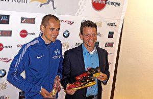 Hendrik Pfeiffer und Markus Frisch bei der Köln-Marathon-PK
