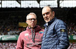 Peter Stöger und Jörg Schmadtke, beide 1. FC Köln