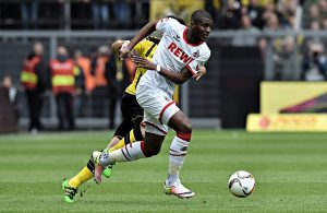 Anthony Modeste (1. FC Köln) am Ball
