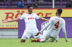 Fortuna Köln mit Hamdi Dahmani und Bone Uaferro