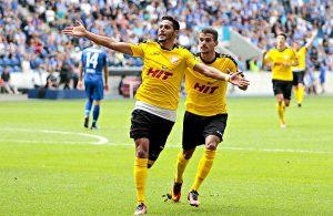 Hamdi Dahmani (l.) und Cauly Oliveira Souza, beide Fortuna Köln