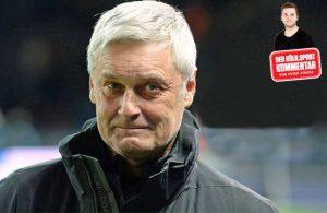 """Armin Veh, der neue """"Geschäftsführer Sport"""" des 1. FC Köln, steht kurz- und mittelfristig vor riesengroßen Herausforderungen."""