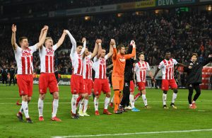 1. FC Köln jubelt