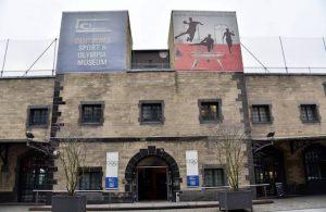 Eingang zum Sportmuseum